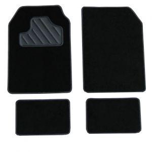 Armada 4 tapis de voiture universels moquette A400 noir ganse noire