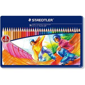 Staedtler 36 crayons de couleur - Décor sports Boîte métal