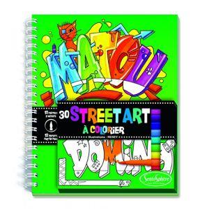 Sentosphère Street Art - Carnet de coloriage et feutres