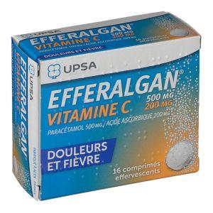 Upsa Efferalgan Vitamine C 500 mg/200 mg - 16 Comprimés effervescents
