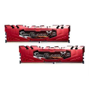 G.Skill Flare X Series rot, DDR4-2400 fur Ryzen, CL 15 - 16 GB D - F4-2400C15D-16GFXR
