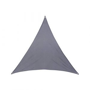 AC-Déco Toile solaire triangle Anori - 400 x 400 x 400 cm - Polyester - Gris