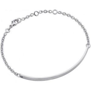 Altesse bijoux 70272681100 - Bracelet Chaîne Argent Rhodié Femme