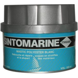 Sinto Sintomarine mastic polyester - Boîte 500 ml - Blanc