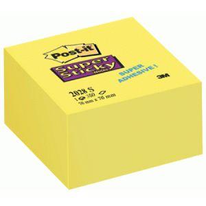 Post-It 2028-S - Bloc cube 350 notes adhésives Super Sticky (76x76 mm)
