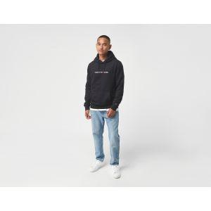 Tommy Jeans TJM Straight Logo Hoodie Sweater, Noir (Black), L Homme