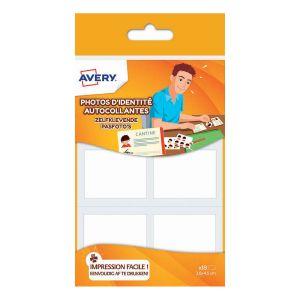 Avery-Zweckform IDENT18 - 18 photos d'identité autocollantes, format 45 x 35 mm (3 feuilles / condt)