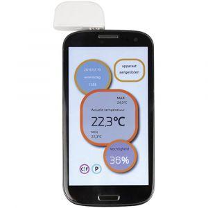 Perel Thermo-/Hygromètre Portable Pour Appareils Mobiles -