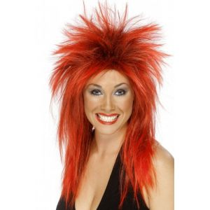 Smiffy's Perruque rock rouge femme