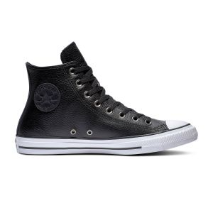 Converse Chaussures casual unisexes Chuck Taylor All Star montantes Leather Noir - Taille 41