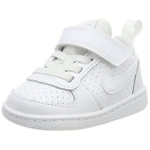 Nike Court Borough Low (TDV), Chaussures de Basketball Mixte Enfant, Blanc (White/White 100), 25 EU
