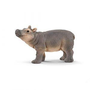 Schleich Jeune Hippopotame Wild Life Figurine, 14831, Multicolore