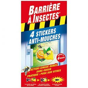 Barrière à Insectes STICKERS ANTI-MOUCHES VITRES - 4 STICKERS BARSTIK