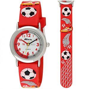 Ravel Football Time Teacher Cadran Blanc Enfants - garçons Rouge Montre R1513.32r