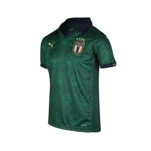 Puma FIGC Third Shirt Replica Jr Maillot Garçon, Ponderosa Pine/Peacoat, FR Unique (Taille Fabricant : 164)
