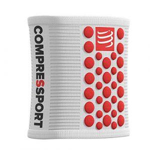 Compressport 3D Dots - Collants - rouge/blanc unisize Gants & Manchettes running