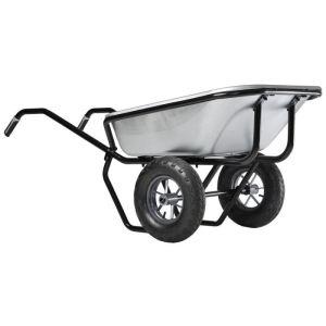 Haemmerlin 306225701 - Brouette Expert Twin galva roues gonflées 160 L