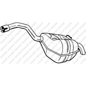 Bosal Silencieux arrière 154-353