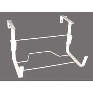 LG Support de jardinière universel large en métal blanc 35 cm
