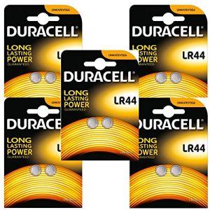 Duracell Lot de 5 Blisters lot de 2 piles LR44 alcaline