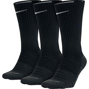 Nike Chaussettes de training Dry Cushion Crew (3 paires) - Noir - Taille L
