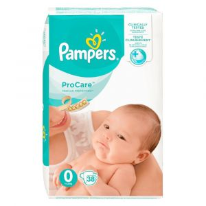 Pampers Procare Premium Protection taille 0 (1-2,5 kg) - 38 couches