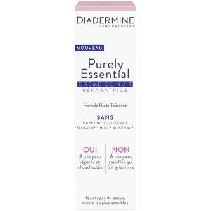 Diadermine Purely essential - Crème de nuit réparatrice