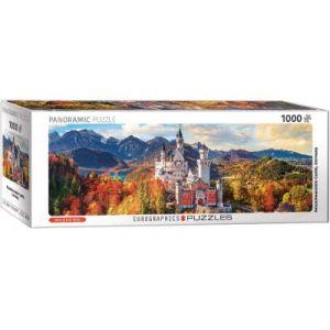Eurographics Puzzle 1000 pièces panoramique : Château de Neuschwanstein en automne
