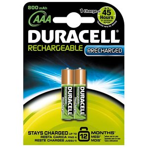 Duracell Recharge Ultra AAA 850mAh 2 pièces 1,2V