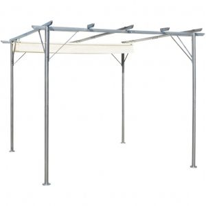 VidaXL Pergola avec toit réglable 3 x 3 m acier