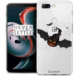 CaseInk Coque OnePlus 5T (6 ) Extra Fine Halloween Chauve Citrouille