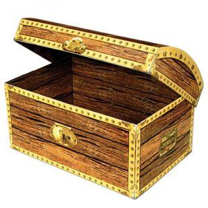 Beistle Léopard 50356 Coffre au trésor Box, 11-3/10,2 cm par 20,3 cm