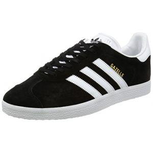 Adidas Gazelle, Baskets Basses Mixte Adulte, Noir (Core Black/White/Gold Metallic), 40 EU (6.5 UK)