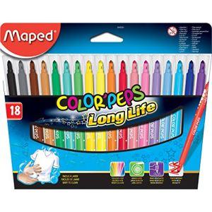 Maped 845021 - Pochette de 18 feutres Color'peps pointe moyenne