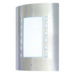 Ranex 5000.086 - Demi-applique Messina en acier brossé avec détecteur de mouvement