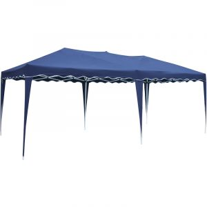 Happy Garden Tente de réception bleue Zephir pliante 3 x 6 m
