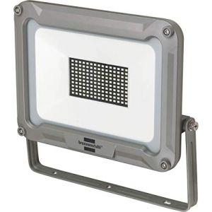 Brennenstuhl Projecteur LED Jaro 100W (8850 lm, utilisation en interieur et en Extérieur, Etanche IP65, Support Orientable), Argent
