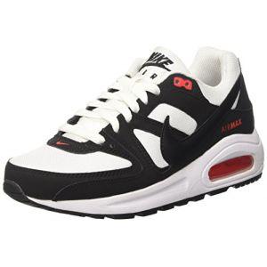 Nike Air Command Flex GS, Chaussures de Running Compétition garçon, Multicolore (White/Black/Max Orange 100), 37.5 EU