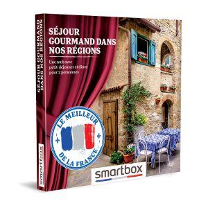 Smartbox Coffret cadeau Séjour gourmand dans nos régions