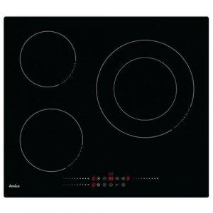 Amica Ai3539 Table de cuisson à induction 60cm 3 feux 7200w noir
