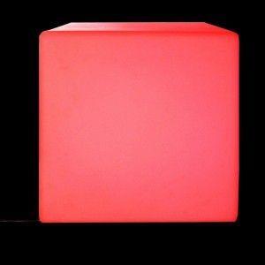 AC-Déco Cube Déco Lumineux LED 50x50cm Multicolore Paris Prix