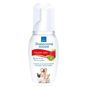 Demavic Shampooing mousse fraise - 150 ml - Pour chien, chat et rongeur