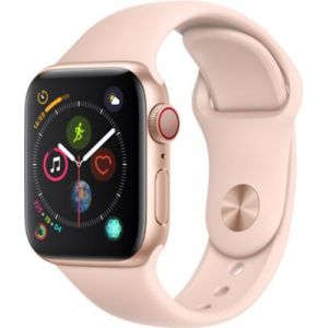 Apple Watch Series 4 Cellular 40 mm - Boîtier en Aluminium Or avec Bracelet Sport Rose des sables