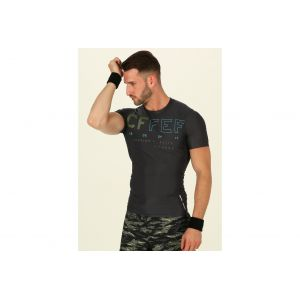 Reebok T-shirt Sport RCF SS Compression Lead 075 bleu - Taille M