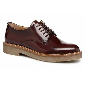 Kickers Oxfork, Derbys Femmes, Rouge (Bordeaux 18), 41 EU
