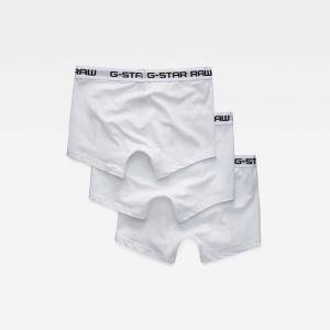 G-Star Raw RAW Classic Trunk 3 Pack Short, Blanc White 6008, Medium (Lot de 3 Homme