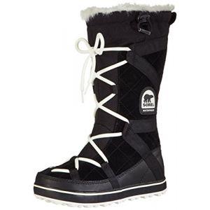 Sorel Glacy Explorer, Bottes de Neige Femme, Noir (Black 012), 38.5 EU
