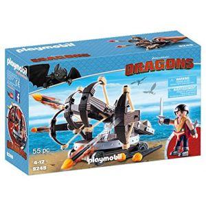 Playmobil 9249 - Dragons : Eret et Baliste à 4 projectiles de feu