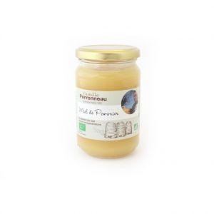 Miel de pommier bio dans pot en verre de 375 g