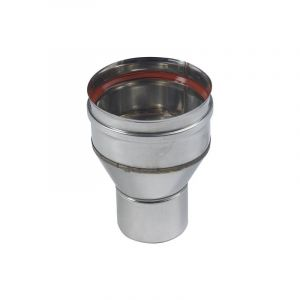 Ten Réduction inox 316 Ø153f/Ø80m + joint à lèvres -